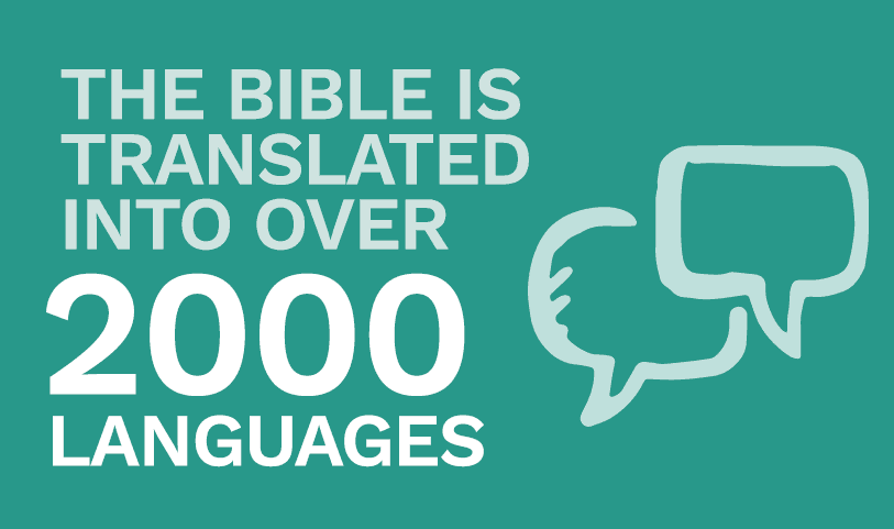 The Bible is translated into over 2000 languages