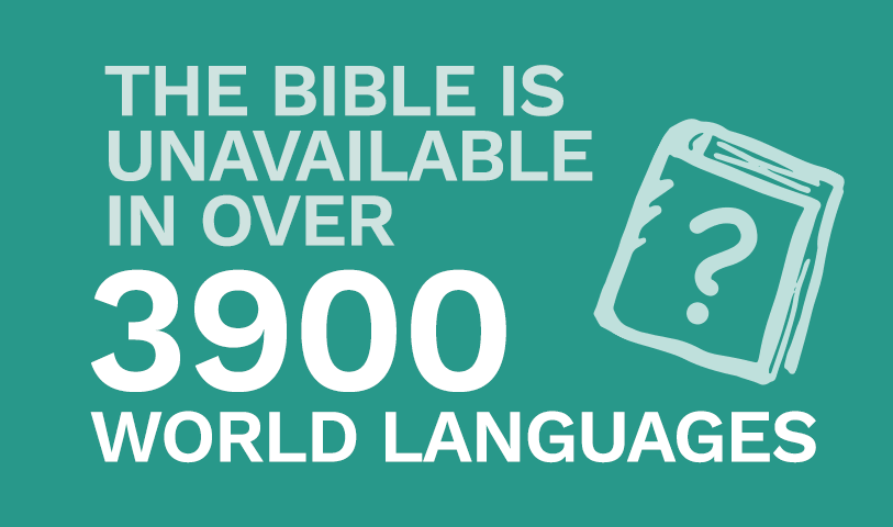 The Bible is unavailable in over 3900 world languages