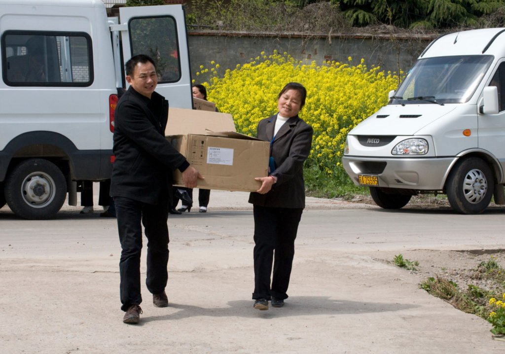 Bible delivery vans in China
