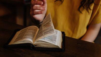 Flipping through the Bible